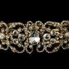 Gold Plated Rhinestone Bridal Wedding Bracelet