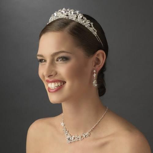 Rhinestone Galore Princess Bridal Tiara Crown