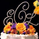 NWT Gold Plated Crystal Monogram Wedding Cake Topper