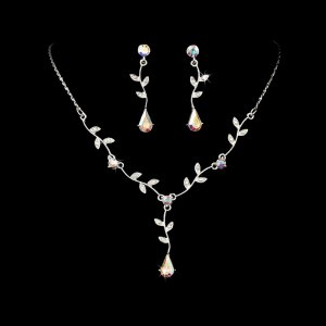 6 AB Rhinestone Bridesmaid Wedding Jewelry Sets!