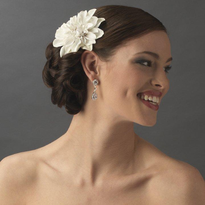 NEW! Ivory Starburst Dahlia Bridal Flower Hair Clip!
