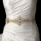 Ivory Elaborate Beaded Wedding Dress Belt Sash