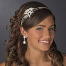 Dazzling Pearl and Crystal Bridal Side Accent Wedding Double Headband Tiara