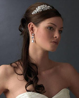 Couture Rhinestone Crystal Side Accent Wedding Bridal or Prom Headband