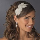 New! Fabulous Beaded Ivory Crystal Bridal Wedding Headband!