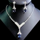 1 Set Navy Blue Rhinestone Bridesmaid Wedding Jewelry Bridal Party or Prom