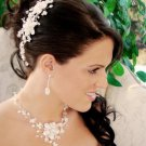 Stunning Freshwater Pearl and Crystal Bridal Hair Comb and Wedding Jewelry Set