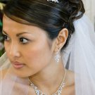 Regal Crystal and Pearl Bridal Tiara with Matching Wedding Jewelry Set