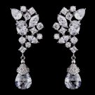 Dramatic Cubic Zirconia CZ Earrings for Wedding, Prom, Pageant