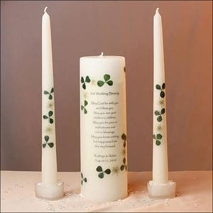 Irish Celtic Wedding Blessing Unity Candle Set! Personalized Free with Names & Date
