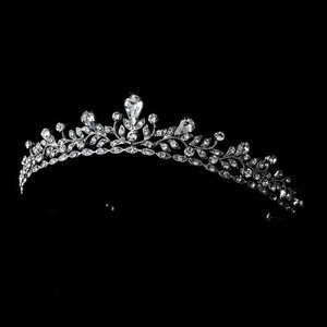 Silver  Plated Princess Rhinestone Wedding Prom Bridal Tiara