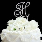 Gold Plated Renaissace Crystal Initial Wedding Cake Topper - Any Letter