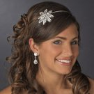 NEW! Rhinestone Floral Side Accent Bridal Wedding or Prom Headband