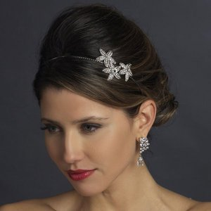 Beach Theme Starfish Side Accent Rhinestone Bridal Wedding Headband