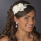 Diamante Rhinestone and Flower Side Accent Bridal Wedding Headband