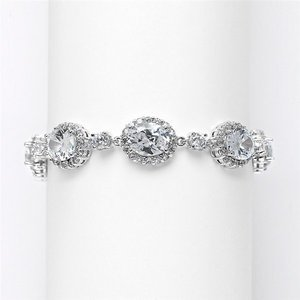 Stunning Mariell CZ Wedding, Prom, Pageant Bracelet 3610B
