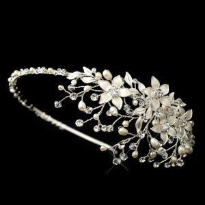 Freshwater Pearl and Crystal Floral Wedding Headband