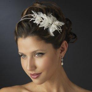 Freshwater Pearl and Rhinestone WeddingTiara Headband