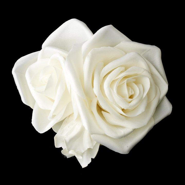 NEW! Ivory Rose Cluster Bridal Flower Hair Clip!
