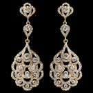 Vintage Look 1920's inspired Light Gold Wedding and Formal earrings