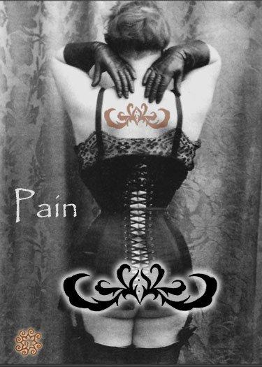 ACEO Pain Card HennaToo Girl Vintage Corset Nude Print