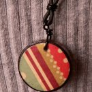 Necklace With Wooden Pendant