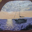 SAILBOAT ON CALM EVENING WATERS**ORIGINAL PAINTING**SIGNED