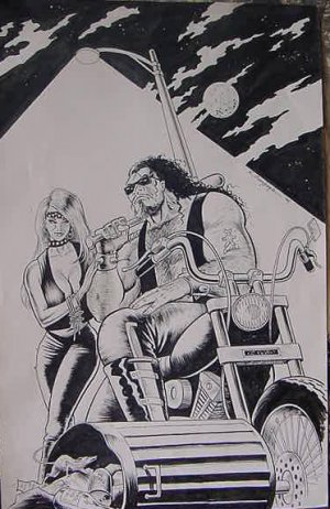 BIKER TRASH**ORIGINAL PRINT**SIGNED