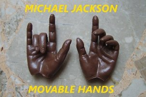 Hot 1/6 Custom Michael Jackson Movable Hands Toys Figure 12""