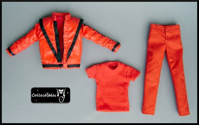 HOT TOYS MICHAEL JACKSON MJ THRILLER COSTUME OUTFIT SET 1/6