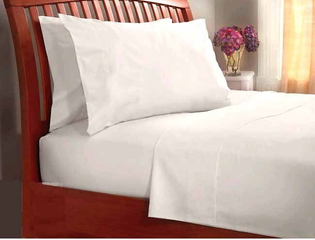 1000TC EGIPTION COTTON WHITE SOLID KING SHEET SET