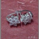 Silver 925 Flower Earrings with Swarovski Mini-Stones