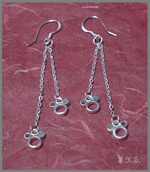 Silver 925 Mickey Mouse Earrings