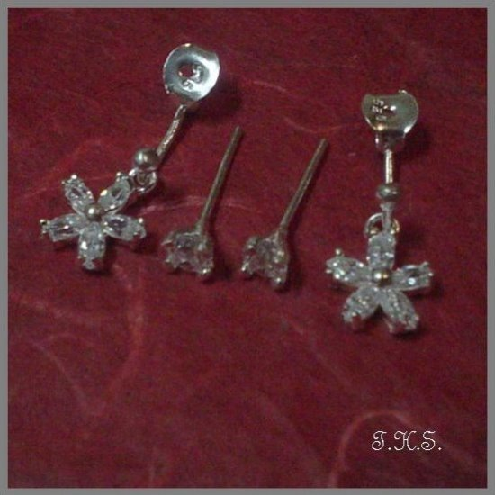Silver 925 Star Earrings with Swarovski Mini-Stones