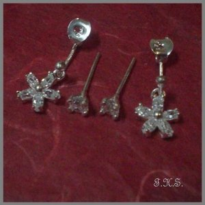 Silver 925 Star Earrings with Swarovski Mini-Stones