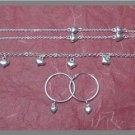 Silver 925 Hearts Set