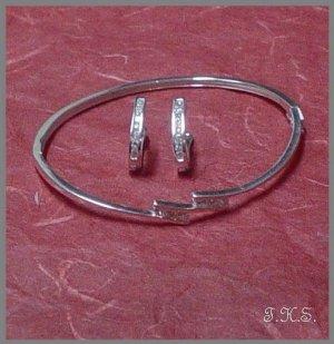 Silver 925 Tri-Line Set