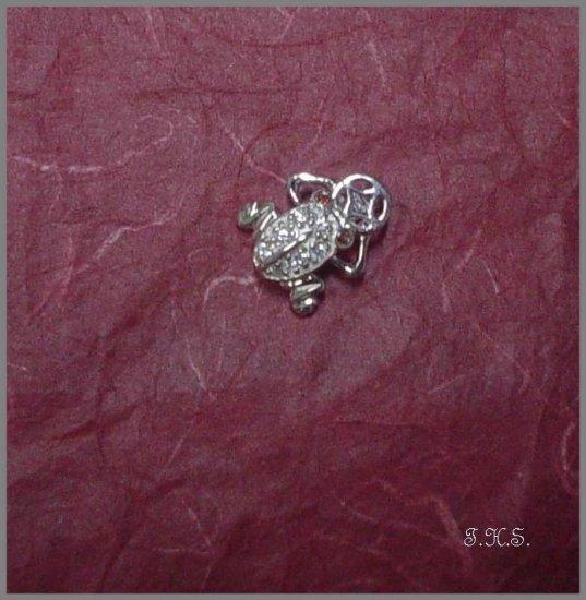 Silver 925 Frog Pendant With Swarovski and Russian Mini Stones