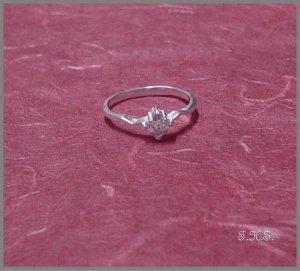 Silver 925 Tiny Star Ring With Swarovski Mini Stones