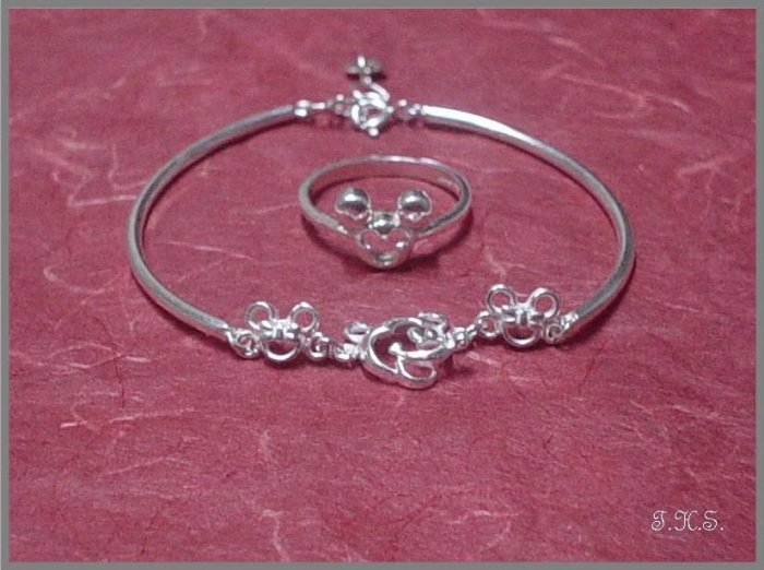 Silver 925 Mickey Mouse Deux Set