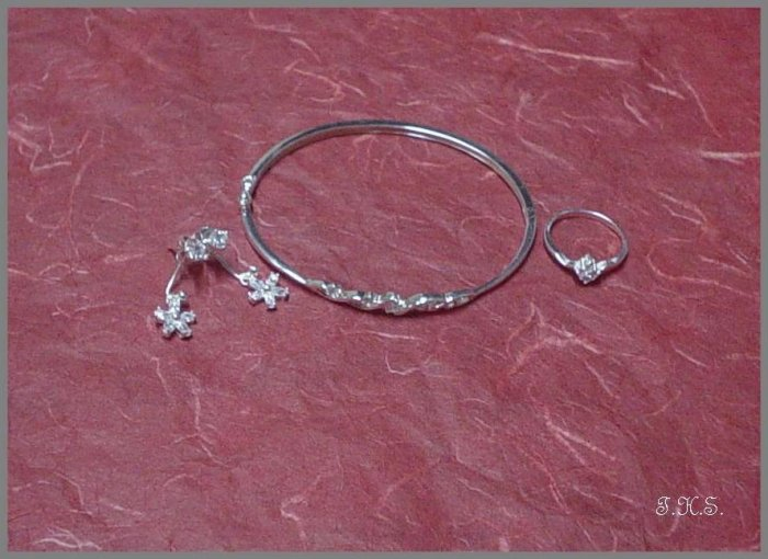 Silver 925 Spiral Star Set