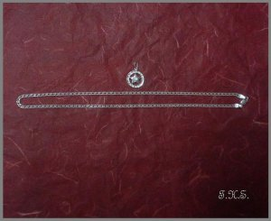 Silver 925 Double Chain Star Set