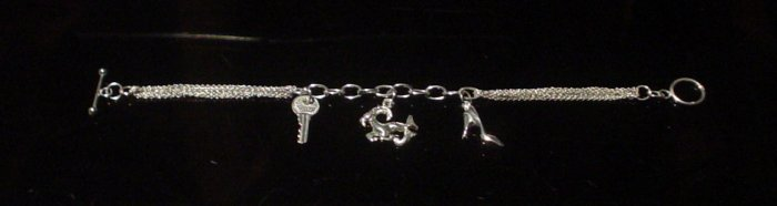 Silver 925 Bracelet | Ram Shoe Key Design