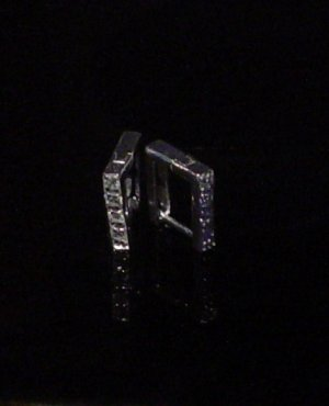 Silver 925 Box Clip Earrings With Swarovski Mini Stones