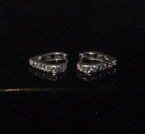 Silver 925 Heart Clip Earrings With Swarovski Mini Stones