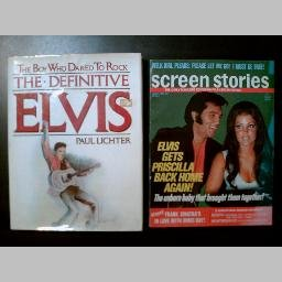 THE DEFINITIVE ELVIS by Paul Lichter + Bonus! (SCREEN STORIES 1973 Vintage Celebrity Magazine)