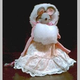 ~ADORABLE HANDMADE WINTER MOUSE~Handcrafted Collectible Plush Felt Doll
