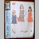 VINTAGE SEWING PATTERN~Girls' Jumper & Blouse~size 14~McCalls #9395 (1976)