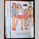 VINTAGE SEWING PATTERN~Girls' Tops/Culottes/Shorts~size 8~McCalls #5552 (1977)