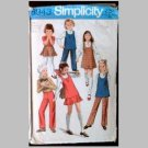 VINTAGE SEWING PATTERN~Girls' Jumper/Tunic & Skirt & Pants~size 4~Simplicity #8943 (1970)